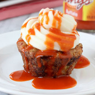 Buffalo Chicken Meatloaf Cupcakes with Mashed Potato Frosting