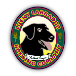 "Logo of Lucky Labrador ""no Pity"" Pale"
