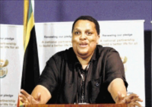 Thami Mseleku Director-General of health at the media briefing on Social Cluster. Pic: Elizabeth Sejake. 21/11/2007. © The Times.