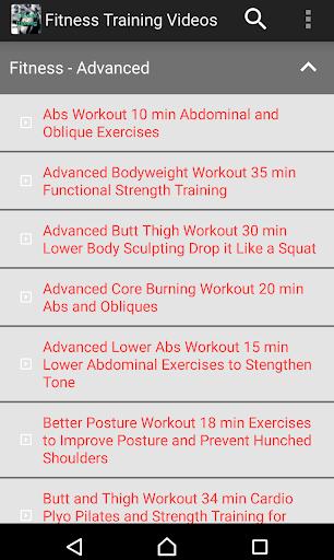 Fitnes Training Videos