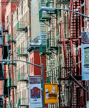 Photo: This shot was taken in Chinatown in New York City on a recent visit. I liked the look of the colored fire escapes and the buildings themselves especially in the late afternoon light.  #BreakfastClub curated by +Gemma Costa
