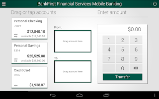 Screenshot of BankFirst Financial Services