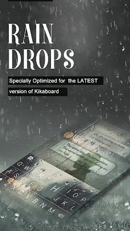 Rain Drops Kika Flat Theme 40.0 screenshot 2087749