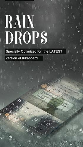 Rain Drops Kika Flat Theme Android App Screenshot