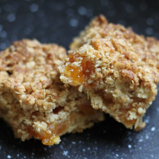 Apricot and Honey Flapjack Slices