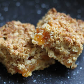 Apricot and Honey Flapjack Slices.
