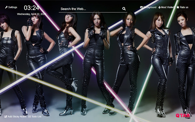 Kpop New Tab Hd Background Theme