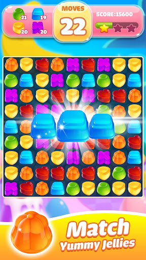 Jelly Jam Blast - Match 3 Games & Free Puzzle Game fond d'écran 1