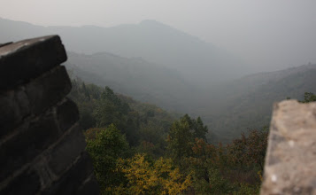 Photo: Day 191 -  View of the Terrain from Great Wall of China (Note Smog) #2