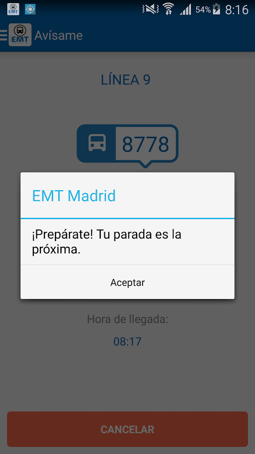 EMT Madrid- screenshot