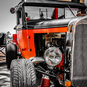 Classic American Car by Florin Marksteiner - Transportation Automobiles ( car, red, vintage, american, black, classic,  )