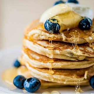 Blueberry Pancakes No Baking Powder Recipes.