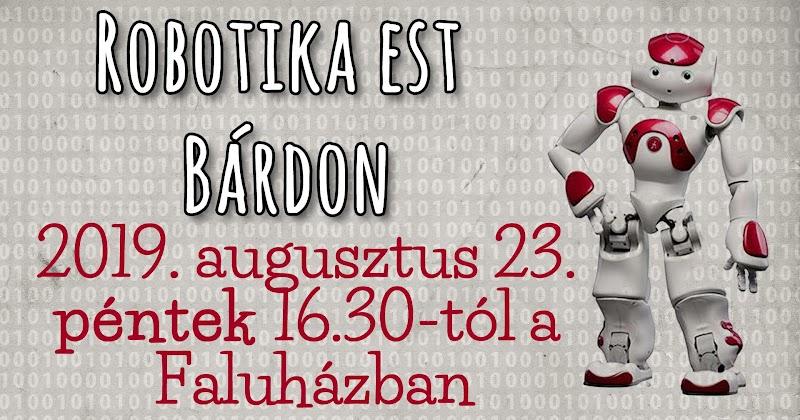 Szabadegyetem Bárdudvarnokon 2019 augusztus 23. Robotika előadás és gyakorlati bemutató