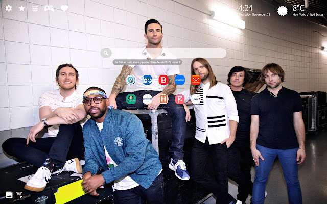 Maroon 5 HD Wallpapers New Tab