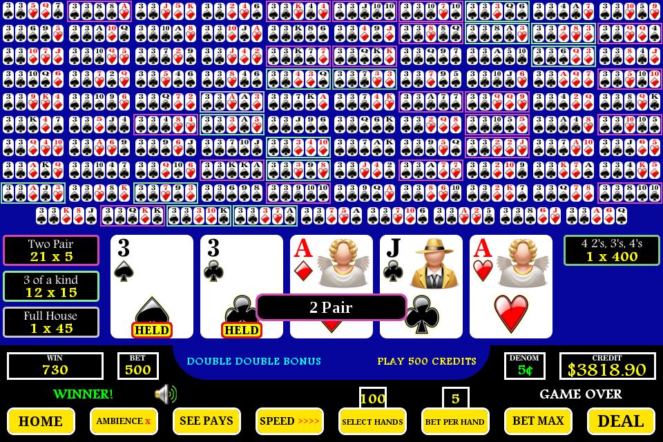 100 hundred hands video poker