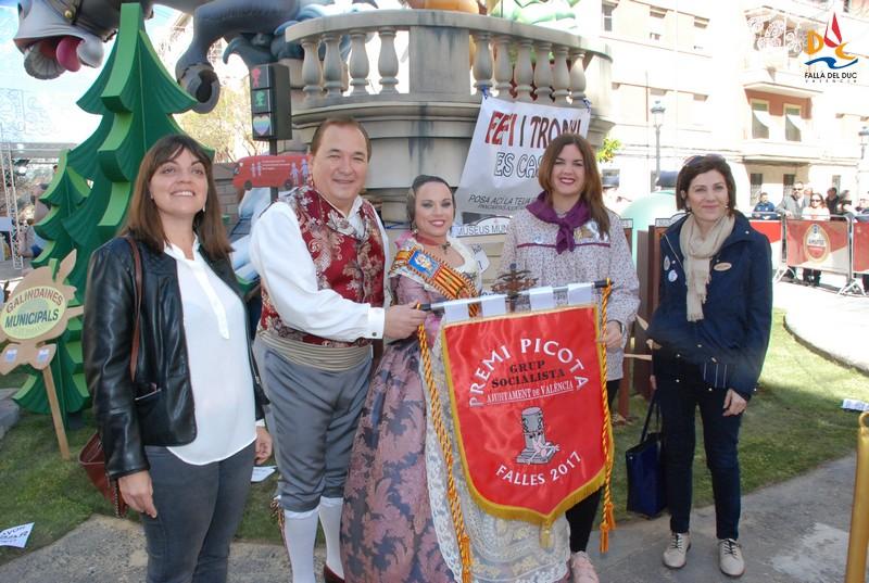 Premio Picota 2017 para la Falla del Duc
