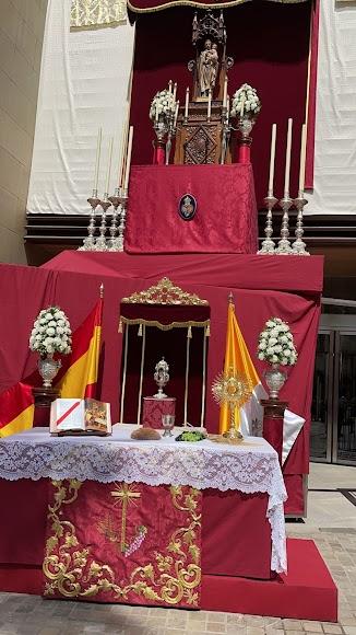 El altar instalado por Pasión.