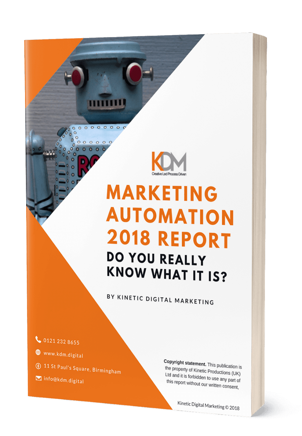 marketing automation 2018 report by KDM digital marketing consultancy