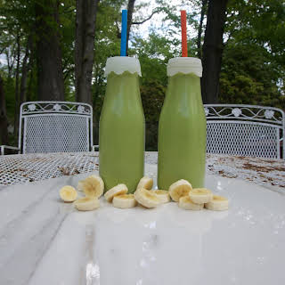 The 28-Day Shrink Your Stomach Challenge Avocado Banana Smoothie.