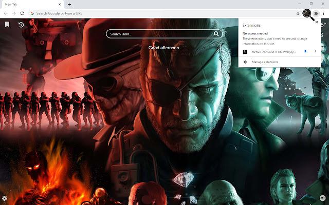 Metal Gear Solid V HD Wallpapers New Tab