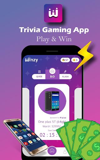 Winzy - Free Quiz, Trivia Gaming App apkdebit screenshots 2
