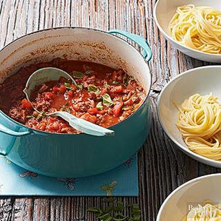 Fresh Tomato-Pancetta Meat Sauce