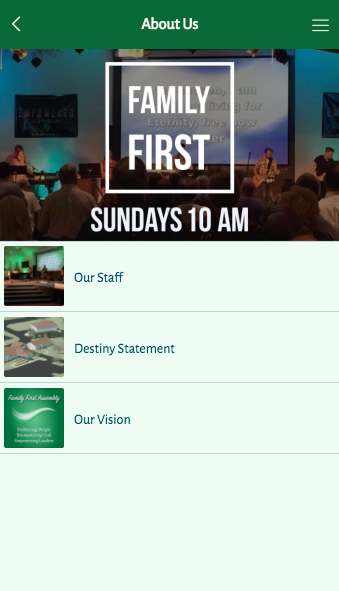 Family First Assembly- screenshot
