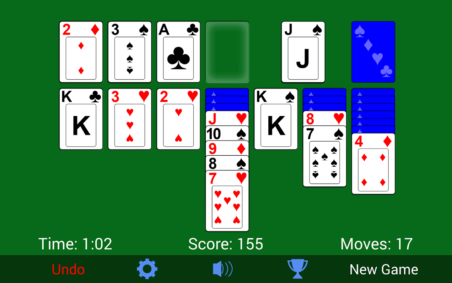 Screenshots of Solitaire for iPhone