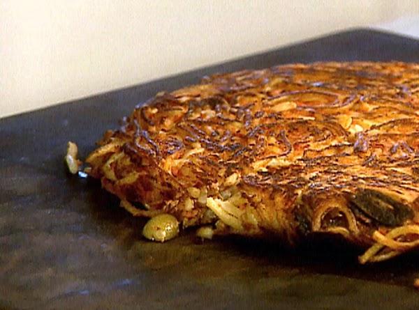 Giadia's Pizza De Spaghetti .. From Left Over Spaghetti Recipe