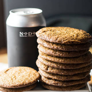 Russian Imperial Bourbon Aged Stout Gingersnap Cookies.