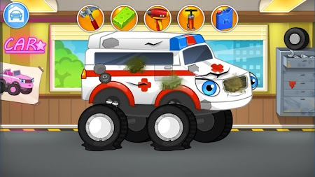 Repair machines - monster trucks APK screenshot thumbnail 1