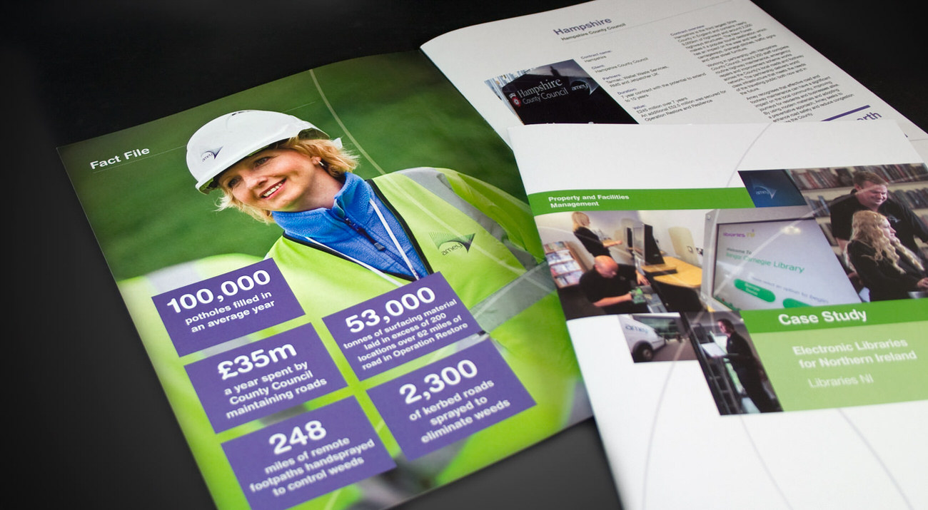 Amey Printed Case Studies | Hullabaloo Visual Communications