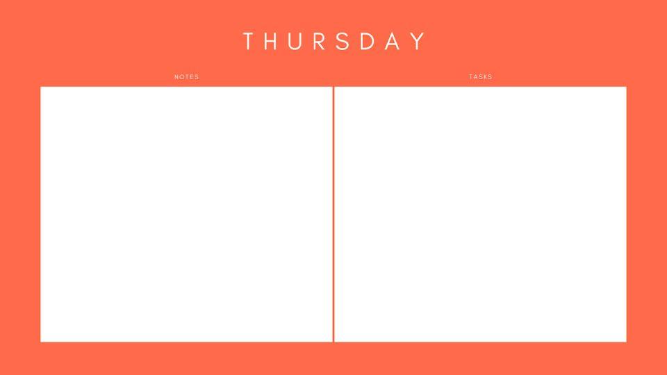 Orange Weekly - Calendar Template