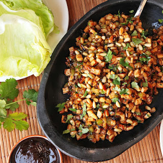 Cantonese-Style Tofu, Pine Nut, and Jicama Lettuce Cups (San Choi Bao)