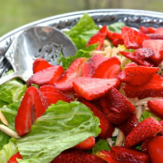 Fresh Strawberry And Romaine Salad With Poppy Seed Dressing