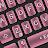 Textured Pink Keyboard Theme Icône