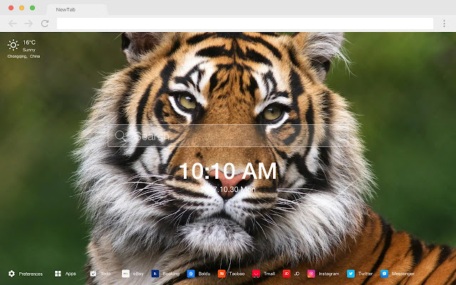 Tiger Poppy HD Wallpapers New Tabs Theme