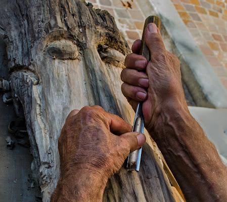 Il legno prende forma di Moreno re