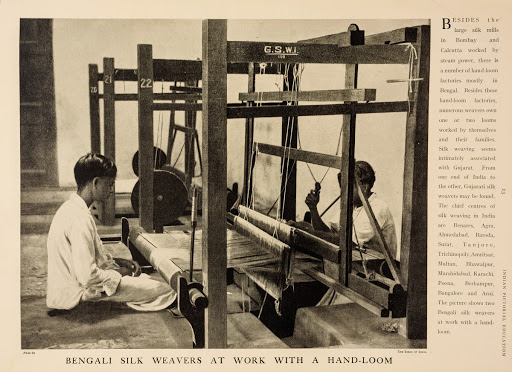 Bengali Silk Weavers at work with a Hand Loom