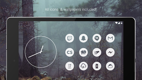 Light Void - Flat White Icons (Free Version) Screenshot