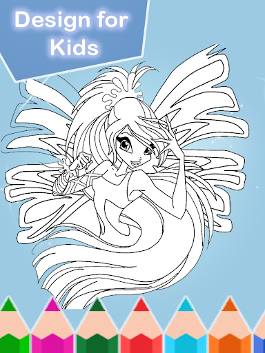 Coloring Book For Winx Party Screenshot 6