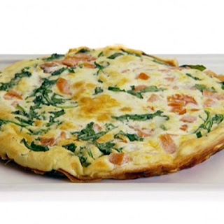 Spinach, Ham and Egg Whites Frittata.