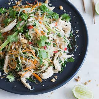 Coconut-poached Thai chicken noodle salad.