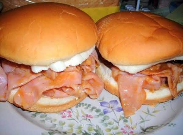Barbequed Ham Sandwiches