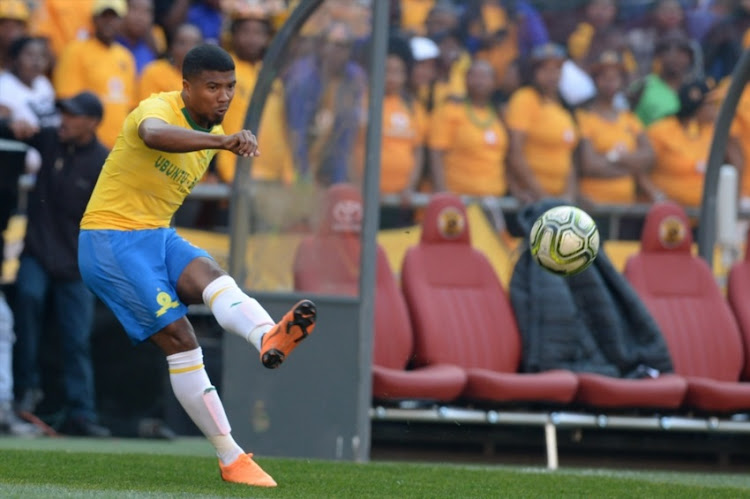 Lyle Lakay of Mamelodi Sundowns during the Shell Helix Ultra Cup match between Kaizer Chiefs and Mamelodi Sundowns at FNB Stadium on July 21, 2018 in Johannesburg, South Africa.