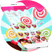 lovely lollipop theme chocolate peach icon