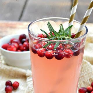 Fresh Squeezed Cranberry Almond Lemonade.