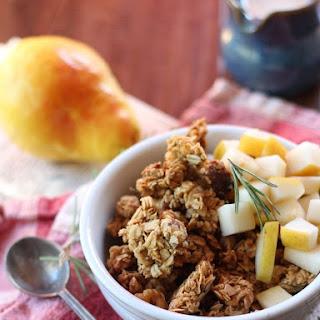 Sweet & Savory Rosemary Walnut Butter Granola