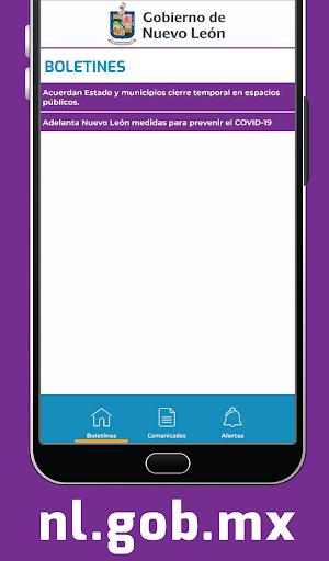 Gobierno de Nuevo León screenshot 2