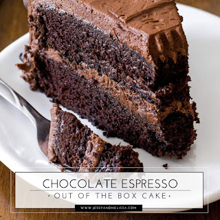 Chocolate Espresso Out of the Box Cake.